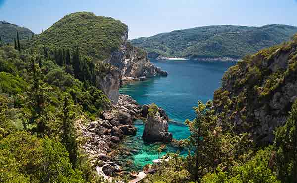 View to Liapades Paleokastritsa