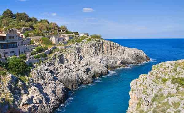 Santa Maria di Leuca in Puglia on the Salento Coast of Italy