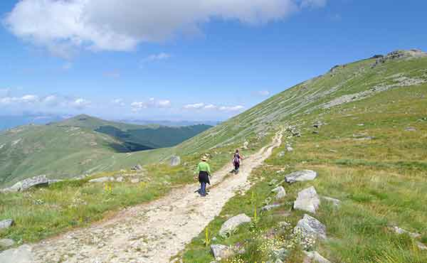Hikers in Pelister National Park in Macedonia