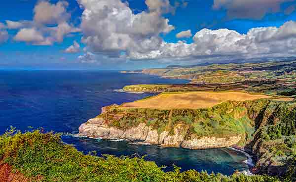 Coastline on the island of Sao Miguel in the Azores