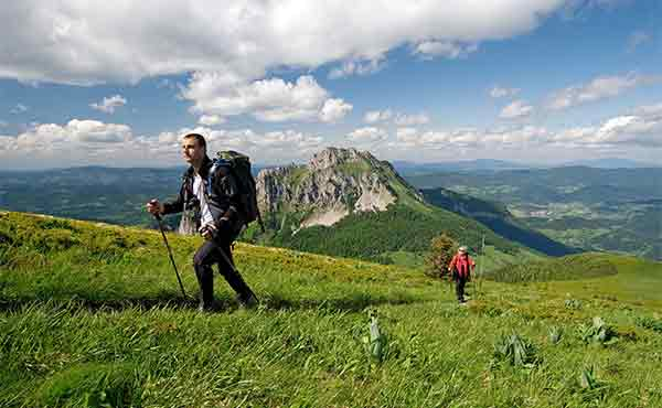 Hikers in Mala Fatra mountains in Slovakia